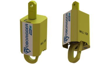 roborigger, automated release hook, wireless release hook, crane lifting, remote hook release